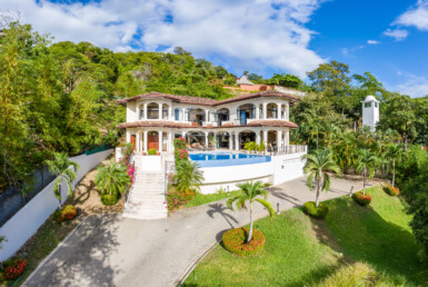 Exceptional Playa Potrero 4 BR Luxury Ocean View Home with Guesthouse