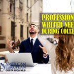 Why do students regularly need a professional writer during college?