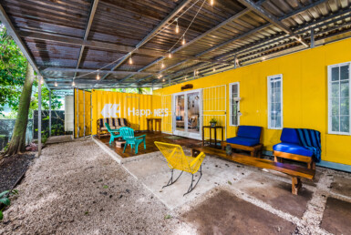 Unique Furnished 2 BR Container Home short walk to beach