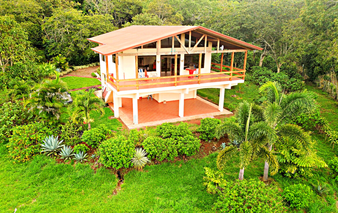 Atenas 2 BR Plantation View Home on almost 5 Acre Flat Land