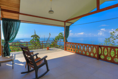 Playa Uvita Jaw-Dropping Ocean View 2 BR Home and Caretaker's