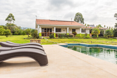 Furnished Off the Grid 2 BR View Rental with a Pool on an Acre of land