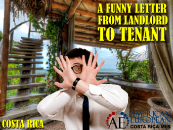 A Funny Letter from Landlord to a Tenant
